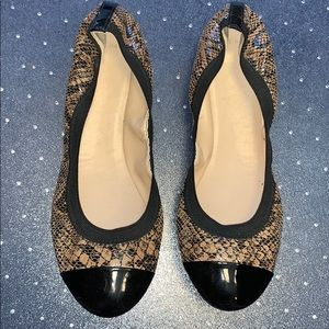 EUC Cole Haan Snake Captoe Ballet Flats